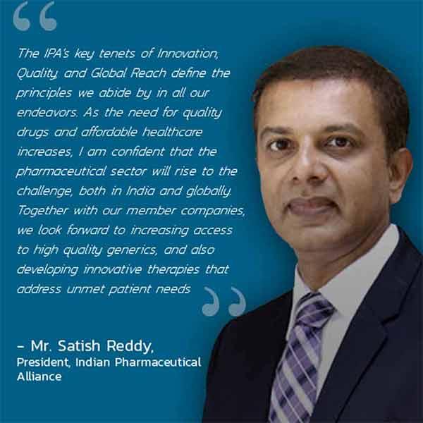 IPA President Satish Reddy